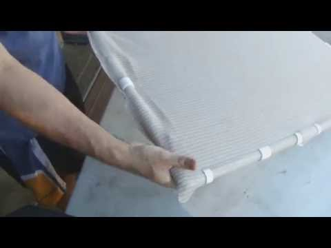 Making PVC Snap Clips to hold shade cloth on PVC frame