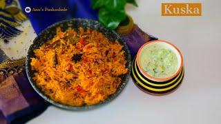Plain Kuska -  Kushka recipe - Kuska Biryani Recipe - Plain Biryani Recipe