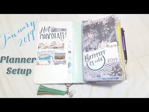 January 2019 Planner Set Up| Agenda 52| DIYFish| Kinleigh's DoodleBox