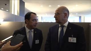 Κοινά μηνύματα υπουγός Ελλάδας και Κύπρου στον ΟΗΕ