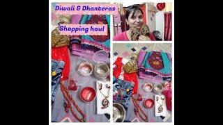 Diwali and dhanteras shopping haul 2017 /diwali haul/guddanmastmomminivlog