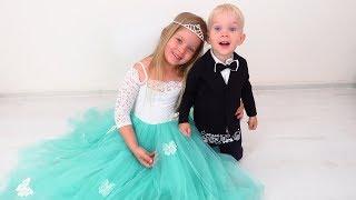Лера как невеста одевает свадебное платье