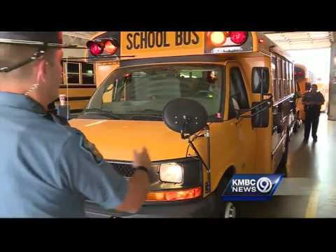 Kansas troopers inspect school buses for upcoming year