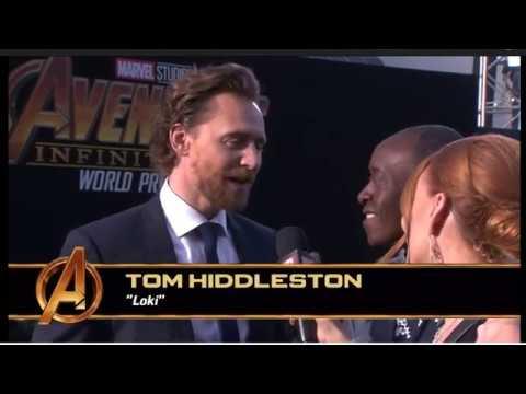 Avengers Infinity War premiere LA Tom Hiddleston red carpet interview