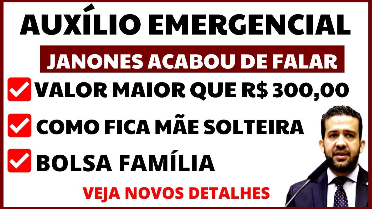 ATENÇÃO! JANONES ACABA DE REVELAR DETALHES DO AUXÍLIO EMERGENCIAL 2021 - MÃE SOLTEIRA BOLSA FAMÍLIA