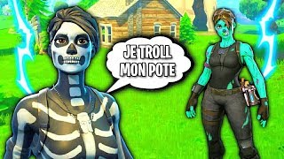 I TROLL MY POTE THANKS TO THIS GLITCH ON FORTNITE BATTLE ROYAL!