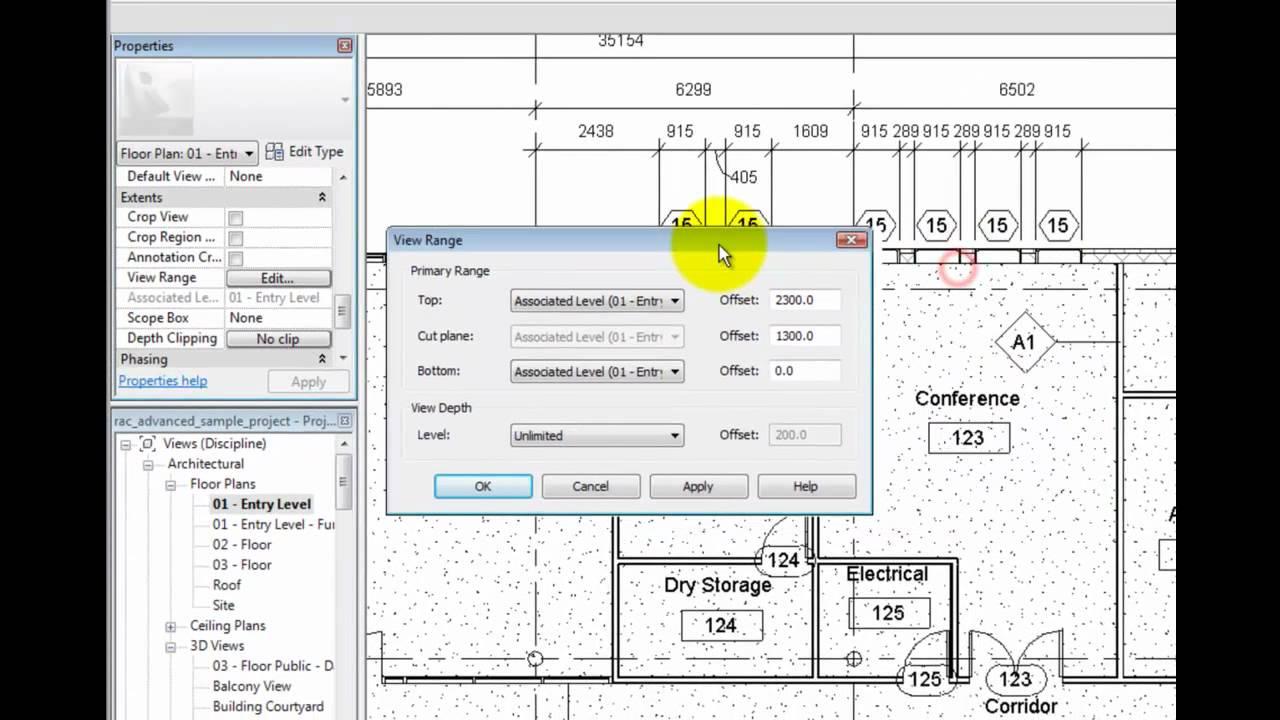 Revit Architecture 2011 Tutorial - Understanding Plan View ...