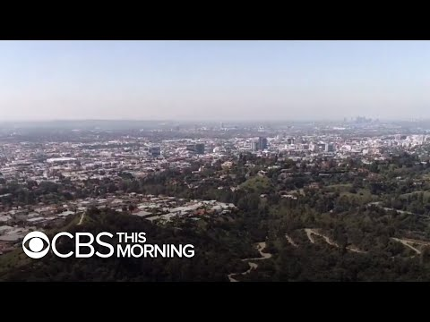 Blue skies and clean air in Los Angeles after coronavirus lockdown