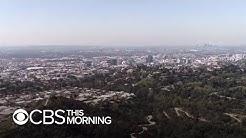 Blue skies and clean air in Los Angeles after coronavirus lockdown