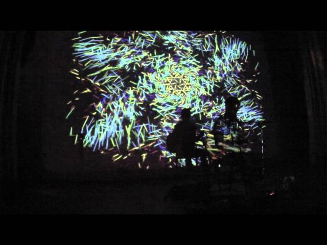 Live Digital Psychedelia: Michael Garfield + Topher Sipes (guitar/electronics + particle animation)