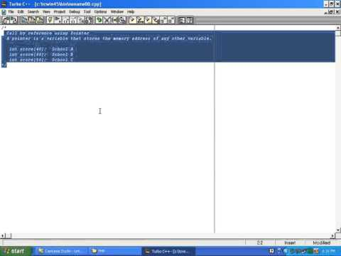 27) C++ Call By Reference Using Pointer