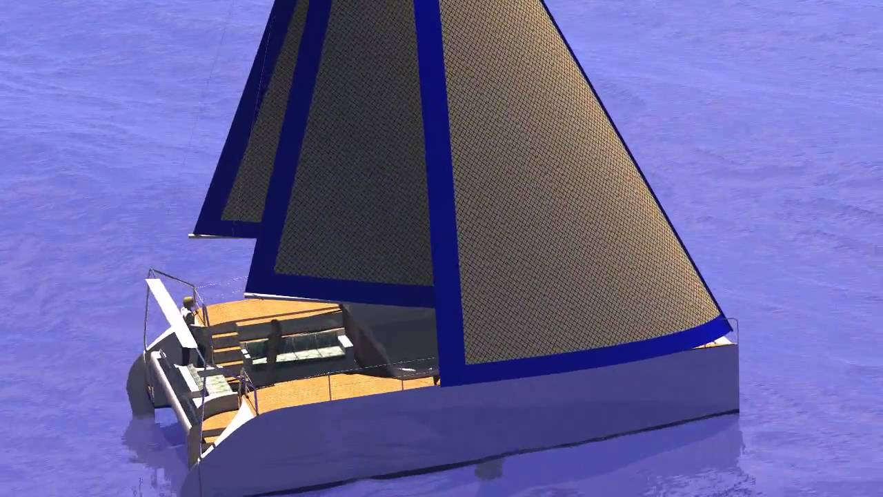 Z40 - Trailerable, Cruising, Sailing Catamaran - YouTube
