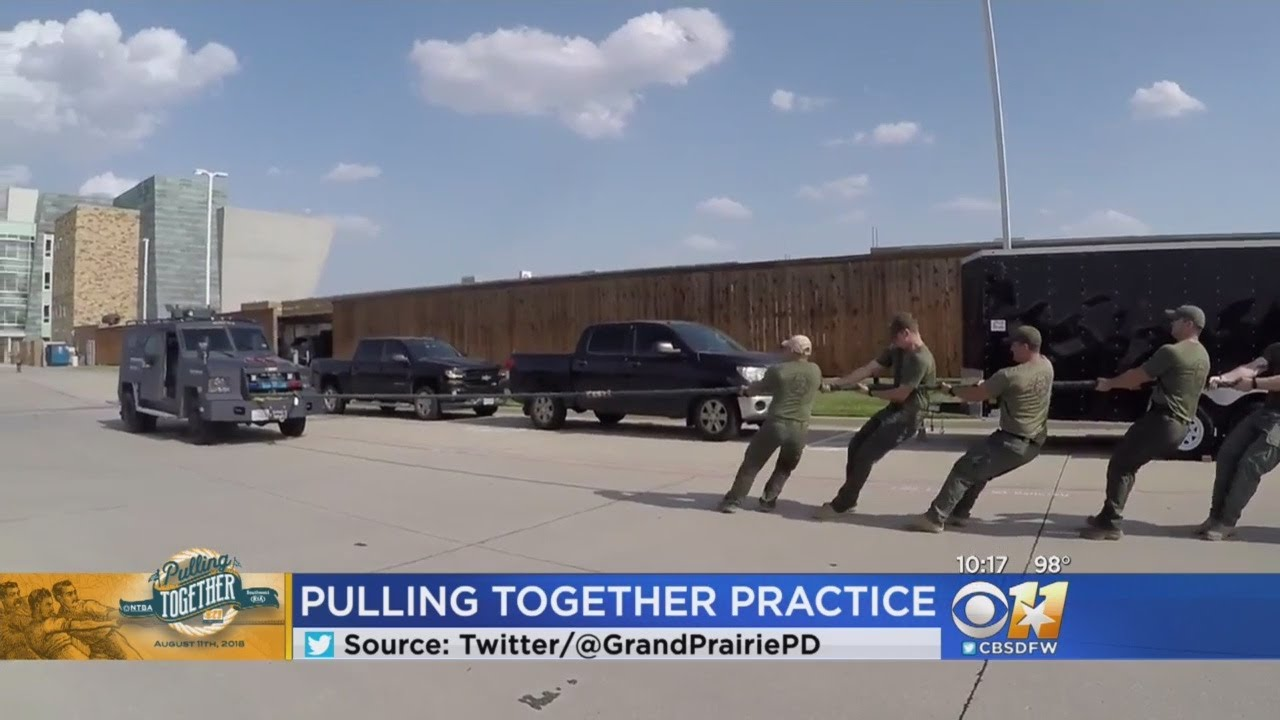 Grand Prairie SWAT Team Practicing For Pulling Together Tug-of-War Showdown  Against Dallas PD