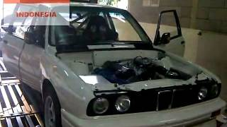 155.7RWHP - Dyno tuning Haltech PS1000 - BMW E30 M3 M42-44 2.0L Rally Car