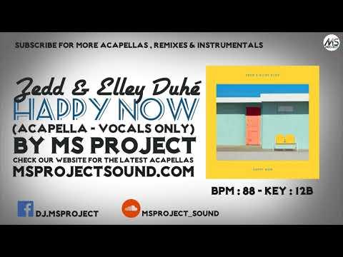 Zedd & Elley Duhé - Happy now (Acapella - Vocals Only)