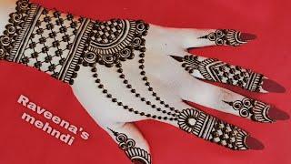 Simple Full hand mehndi design  mehndi design for hand  new easy simple mehndi lgana sikhe  