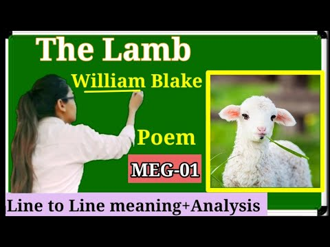 Poem-The Lamb By William Blake Explanation Line To Line In Hindi.meg-01.Song Of Innocence