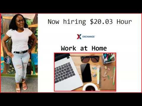 X Exchange Hiring Work at Home $20 03 Hourly Immediate #workathome #makemoneyonline