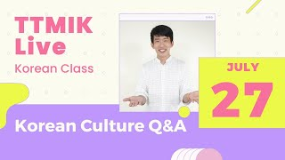 Live Korean Class - Ask me anything about Korean culture