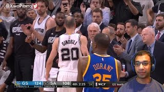 SWEEP CITY! MANU GINOBLI LAST GAME BEFORE RETIREMENT. Warriors vs Spurs Game 4 HIGHLIGHTS REACTION