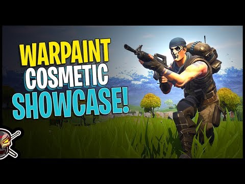 Warpaint Cosmetic Showcase - Fortnite Save The World Free Skin In Battle Royale