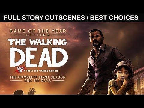 The Walking Dead SEASON 1 - All Cutscenes / Full Movie (Telltale Games) PC 1080p 60FPS