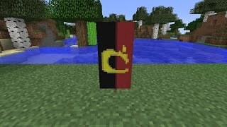 How to make the National Flag of Angola [AGO]//Minecraft