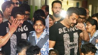 Salman Khan Gets EMOTIONAL Around Kids Of Umang School In Jaipur