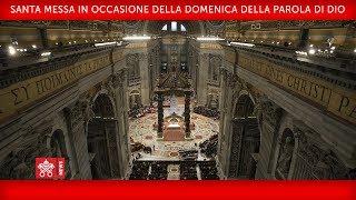 Papa Francesco-Santa Messa in occasione della Domenica della Parola di Dio  2020-01-26