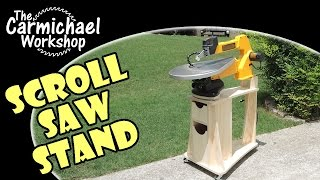 DIY Scroll Saw Stand for the DeWalt DW788 (Woodworking Shop Project)