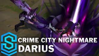 Crime City Nightmare Darius Skin Spotlight - Pre-Release - League of Legends