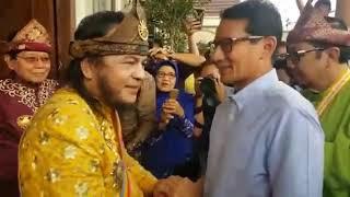 Sandiaga Uno Disambut Sultan Iskandar Mahmud Badaruddin Palembang Darussalam