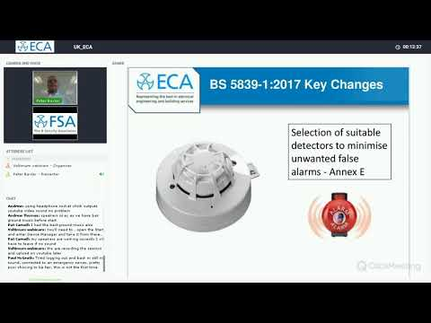 ECA Webinar: Fire detection and fire alarm systems for buildings - Key changes to BS 5839-1:2017