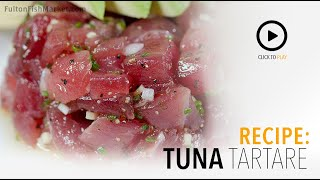 Tuna TarTare with Chef Jordan Andino | Fulton Fish Market