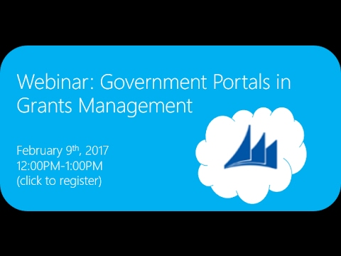 Webinar: Government Client Portals in Grants Management
