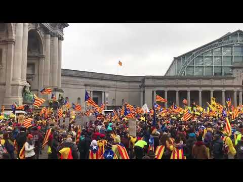 07 Des - Catalans claim freedom for the Catalan political prisoners in Brussels and the independence