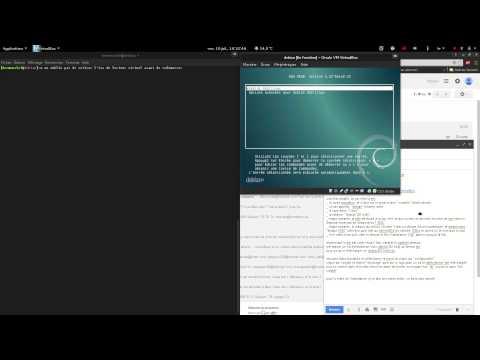 installation debian pour code en C (dans une VM avec virtual box)