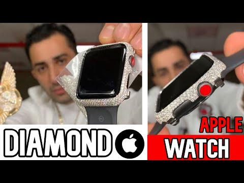 DIAMOND APPLE WATCH CUSTOM WITH TRUE VS