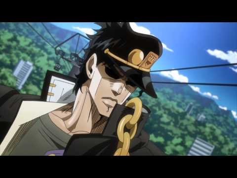 "Yellow Temperance says ""Jotaro"""