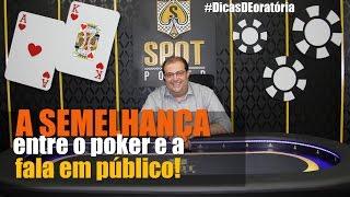 Qual semelhança entre o poker e uma fala em público   Franco Junior