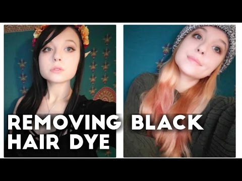 Removing Black Hair Dye And Going Blonde