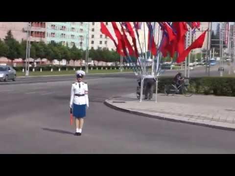 North Korean Traffic Lady