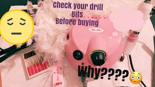 Belle Nail Drill 30000 Rpm what they didn't tell  you about this drill and your bits