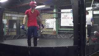 Japan MMA Cage Wolfman Sparring 5:13 vs DJ Taiki 18:14 Grappling Champion BB Kitaoka