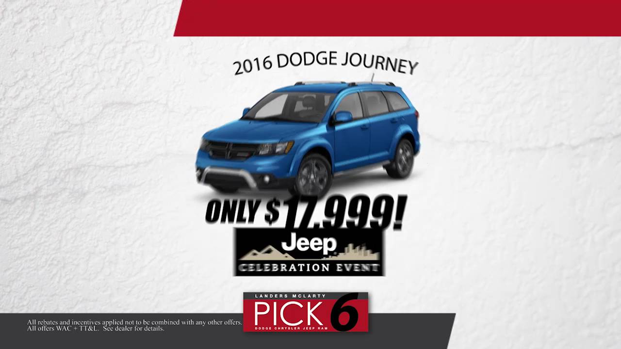 6 Great September Deals At Landers McLarty Dodge, Chrysler, Jeep ,Ram