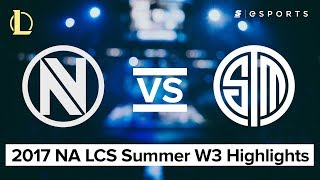 HIGHLIGHTS: EnvyUs vs Team Solo Mid (2017 NA LCS Summer)