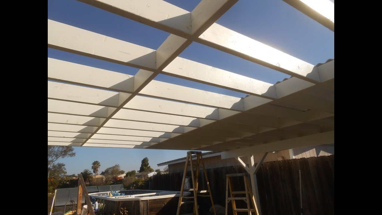Corrugated Patio Cover Top Installed Youtube