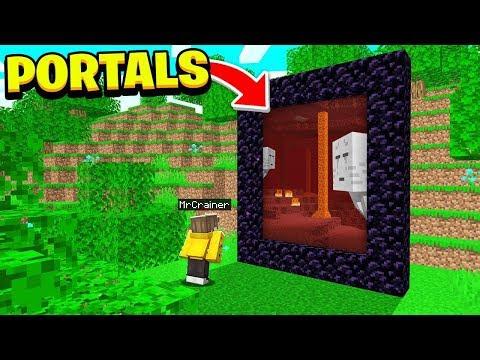 *NEW* See Through PORTALS In Minecraft