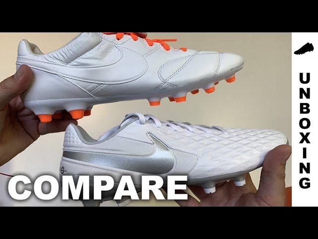 cazzotto zanzara Obbediente  COMPARE : Nike Tiempo Legend 8 Academy vs Nike Premier II FG - YouTube