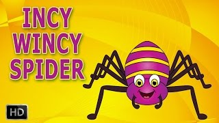 Incy Wincy Spider Nursery Rhyme with Lyrics - Cartoon Animation Rhymes - Itsy Bitsy Spider